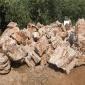 供应风景石假山石 内江小块千层石 泰山石切片