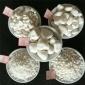 装饰用白石子 白色鹅卵石 白色碎石 白色水磨石子 盛运草草2019社区价格优惠